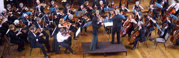 Part of Plymouth Symphony Orcestra in Rehearsal